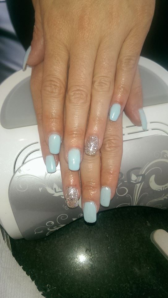 Winter Nails Cool Colors Frosty Nails Baby Blue Nails Gelish