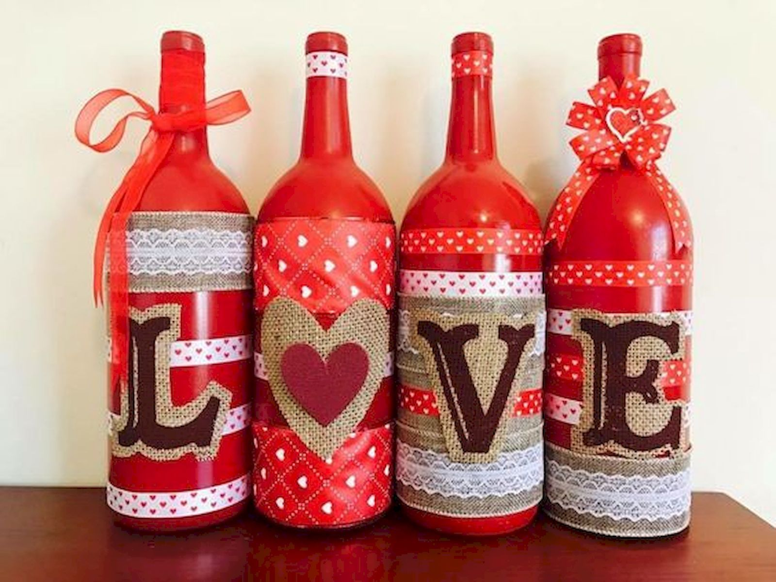When It Comes To Valentine S Day Decor Think Outside Your Average Box Of Chocolates Our Valentine Valentines Wine Bottles Valentines Wine Valentines Day Wine