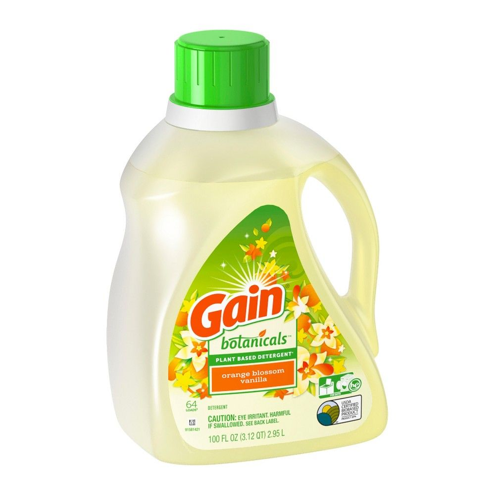 Gain Botanicals Orange Blossom Vanilla Liquid Laundry Detergent
