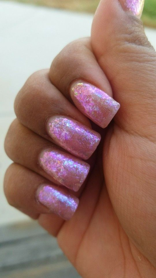 Chameleon Nail Sequins Acrylic Nail Design For Summer Winter Spring Fall