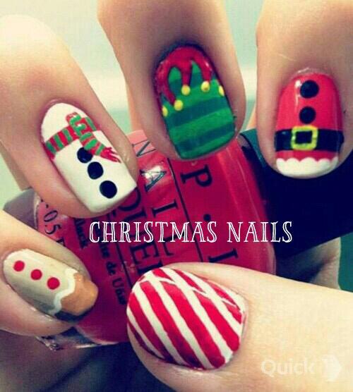 nail,  nail arr,  #santa