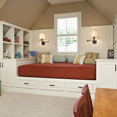 @catherine gruntman gruntman gruntman gruntman gruntman Soukup- cool idea for a bonus room.  Extra storage and guest bed