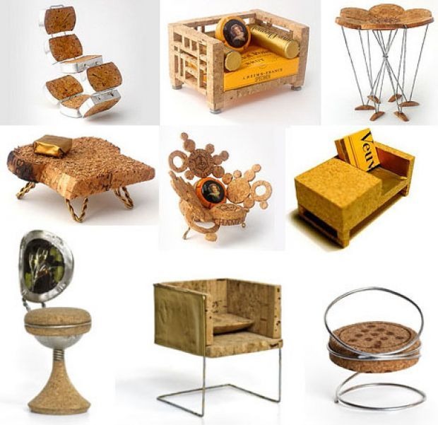 Recycled Cork Furniture For Borrowers