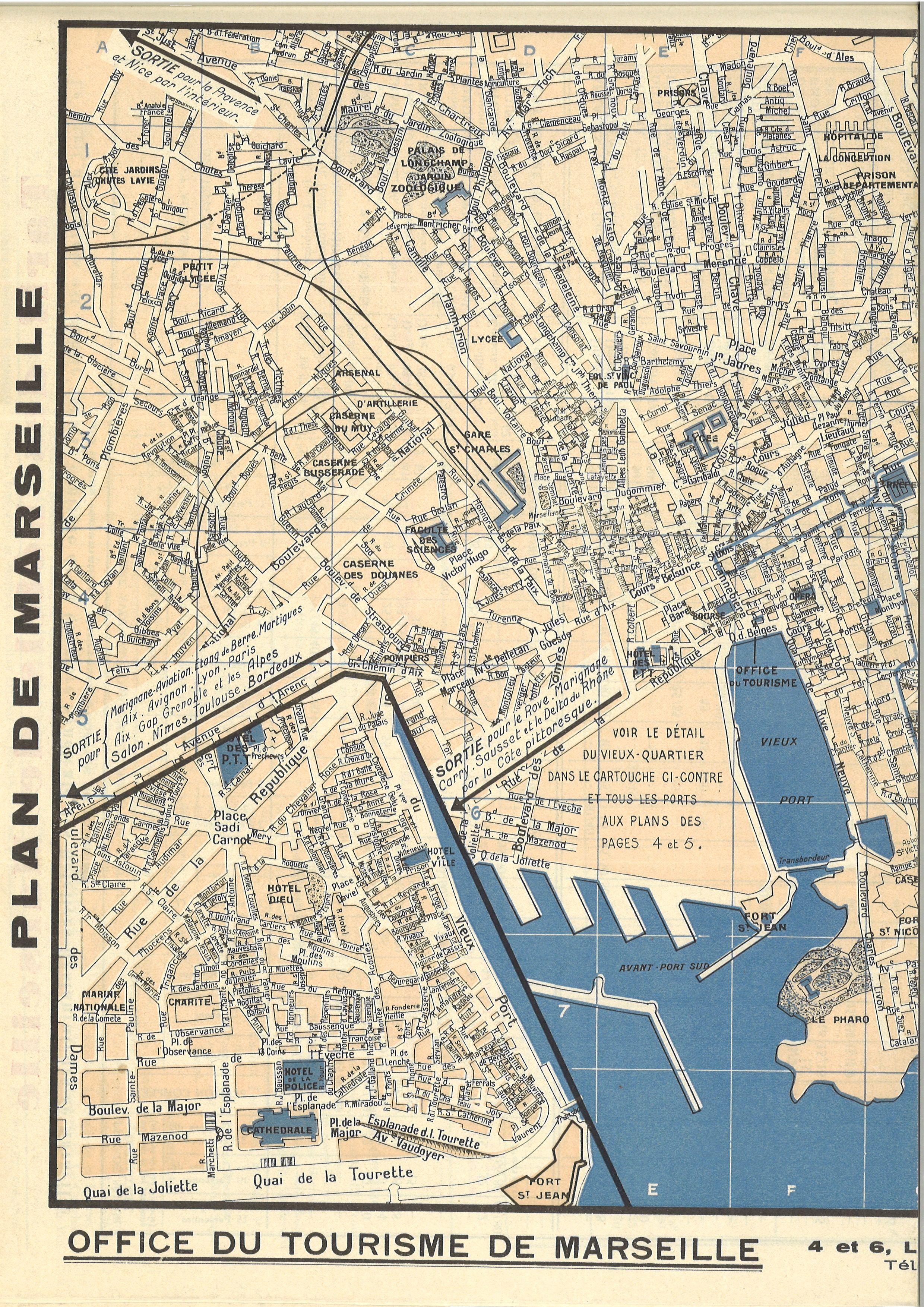 Marseille Plan De 1938 Les Quartiers Detruits Marseille Plan