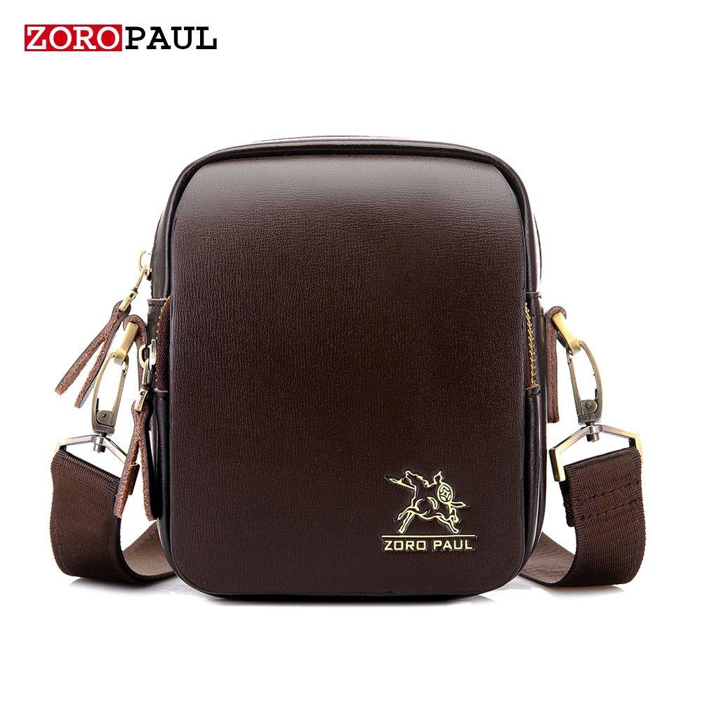 ZOROPAUL NEW Mini Man Shoulder Bag Fashion Leather Men s Designer Handbags  Vintage Male Messenger High Quality f54a0191f374a