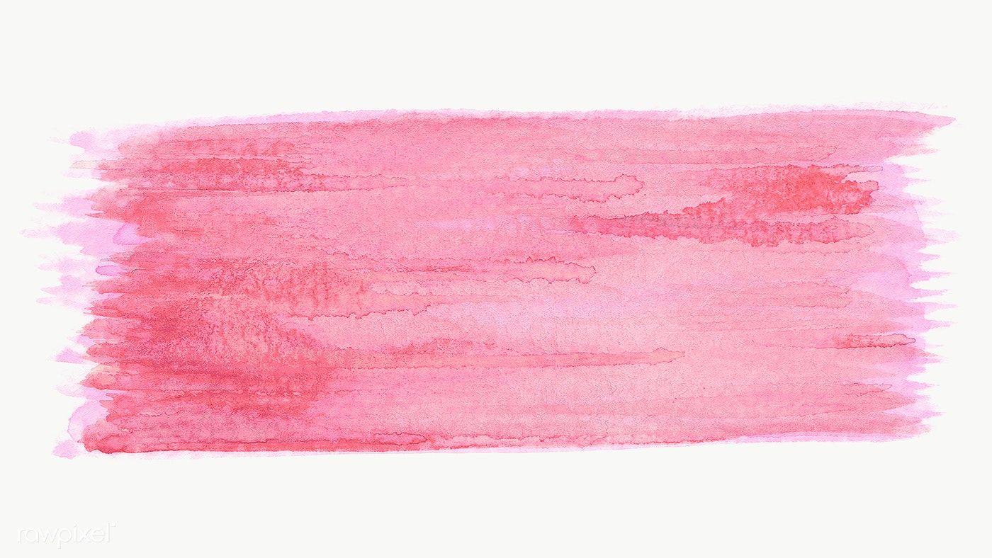Pink Watercolor Brush Stroke Transparent Png Free Image By Rawpixel Com Abstrak Stiker Bingkai Foto
