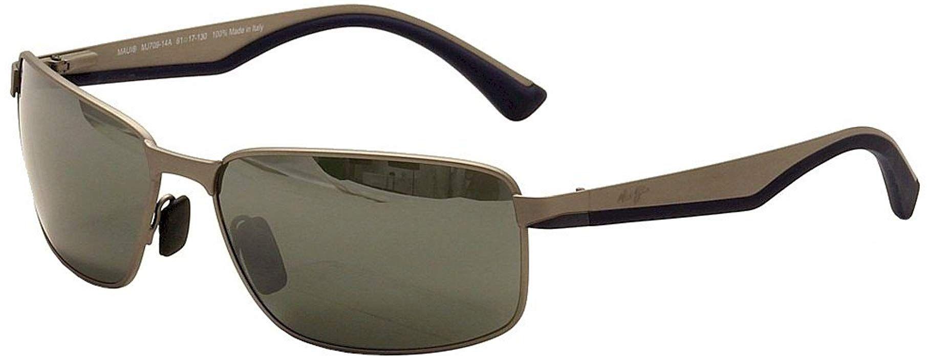 Maui jim backswing polarized sunglasses satin grey