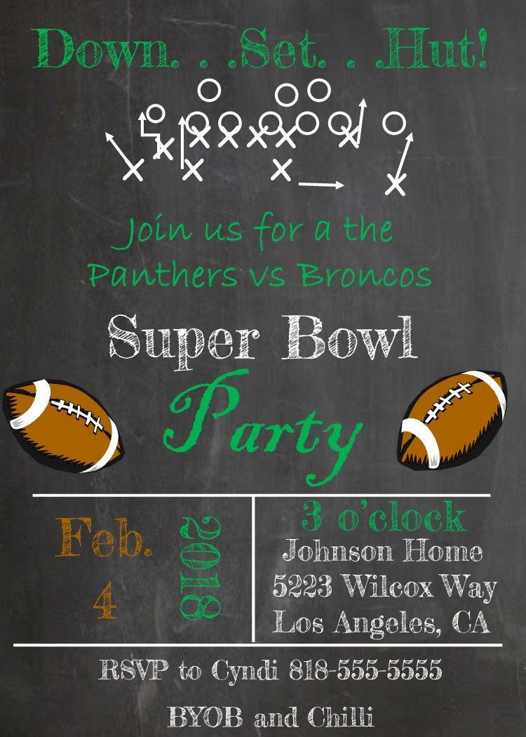 Super Bowl Party Invitations 5  Super bowl party invitations