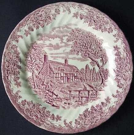Churchill Made In England Brook Pattern Pink Dinner Plate By Churchill 19 99 Brook Pattern Measures Approximate Pink Dinner Plates Pink China Pink Patterns