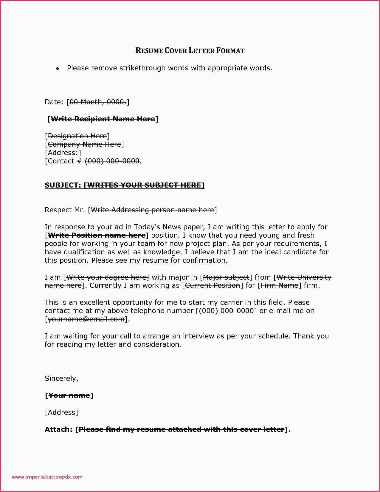 designation cover letter
