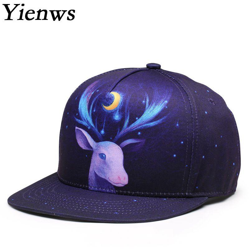 Yienws 3D Print Hip Hop Snapback Cap Men Summer Gorras Planas Full Cap Hat  Baseball Bones 712af725694f