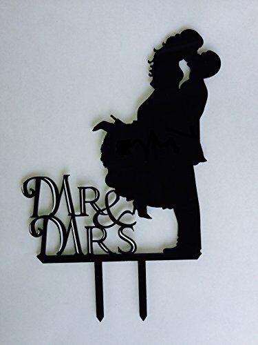 Mr. & Mrs. Kissing Couple Silhouette Acrylic Wedding Cake Topper Unik Occasions http://www.amazon.com/dp/B00WCMW7XM/ref=cm_sw_r_pi_dp_x9wuwb1PS2F6G