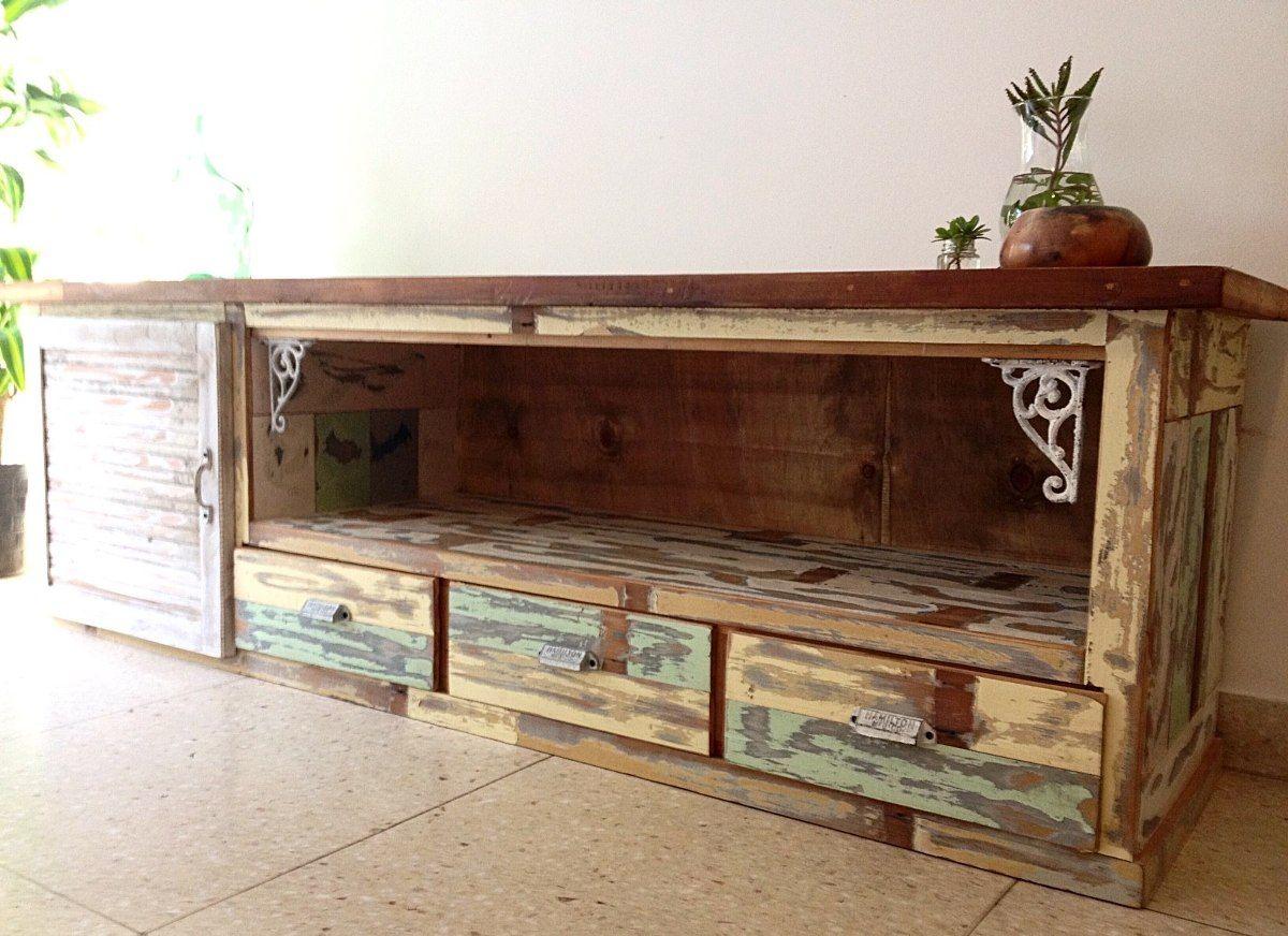 Muebles para tv buscar con google rack tv mueble tv for Muebles de madera reciclada para cocina