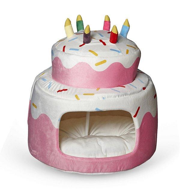 Buy Nandog Cake Hut Small Dog & Cat Bed, Pink at