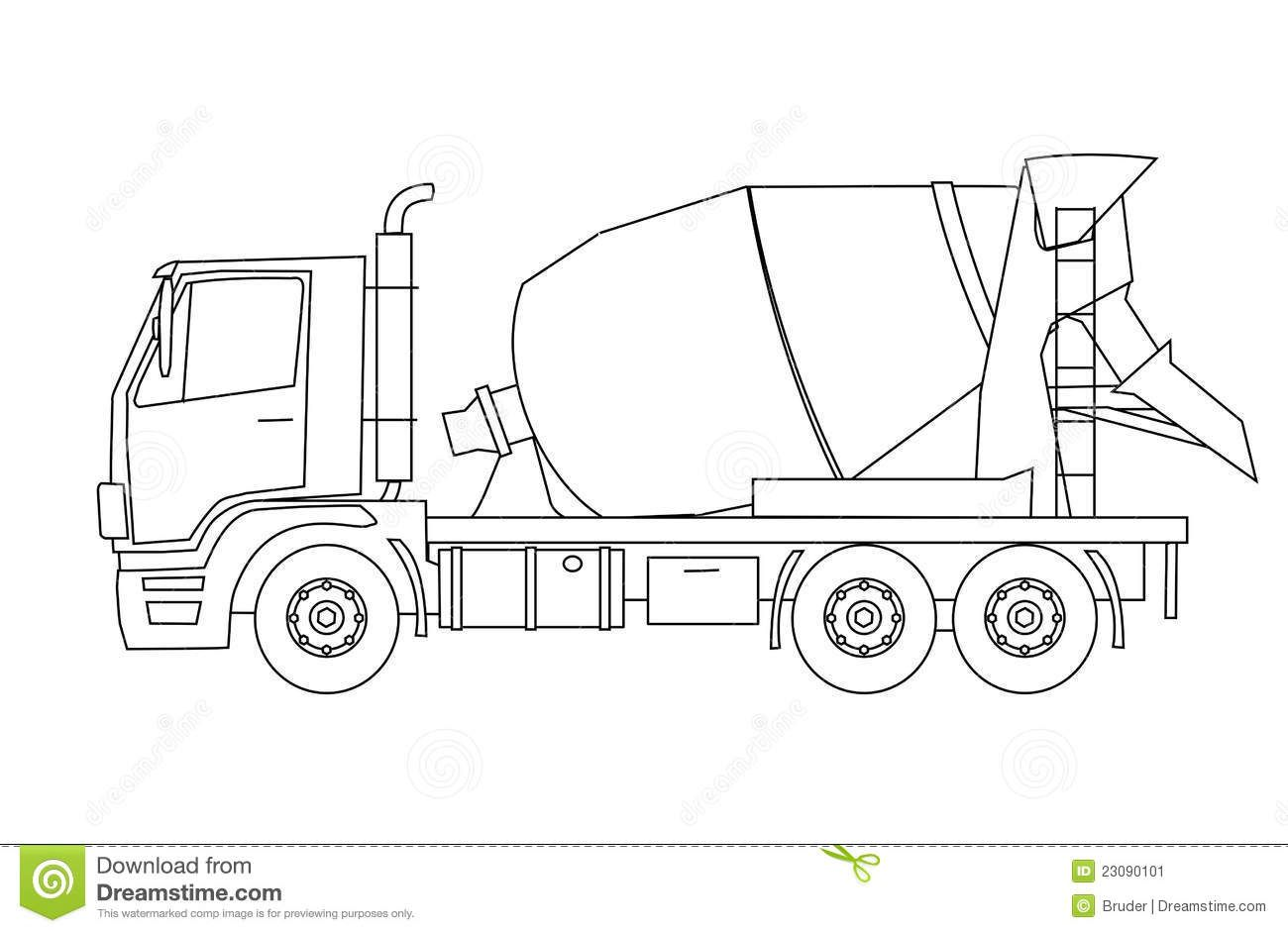 Concrete Mixer Truck 23090101 Jpg 1300 942 With Images