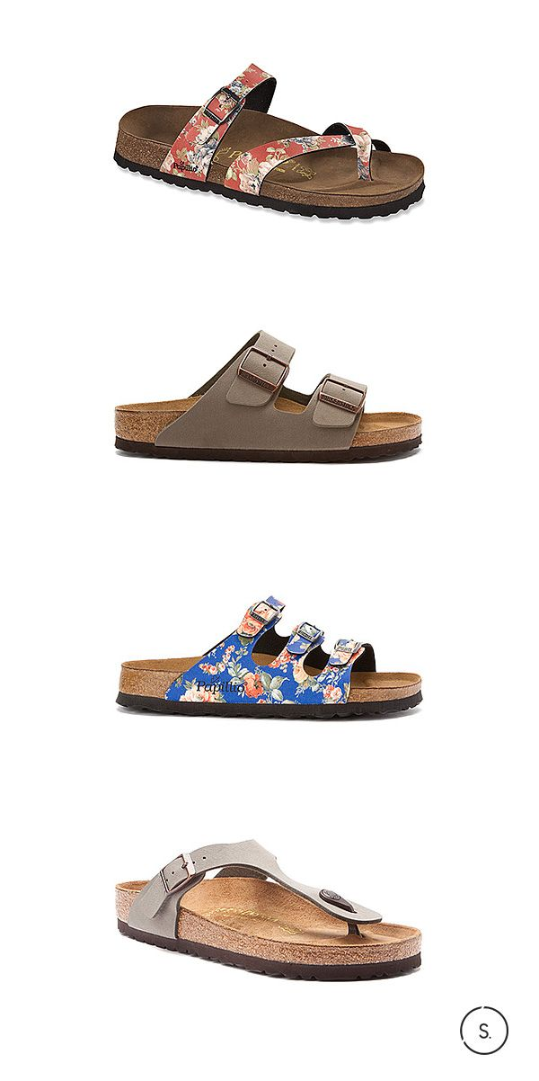 31196b0c8e0 All about boho. The hottest Birkenstocks of Summer 2015 are softly suede or  flushed in floral. Available today on SHOES.com.