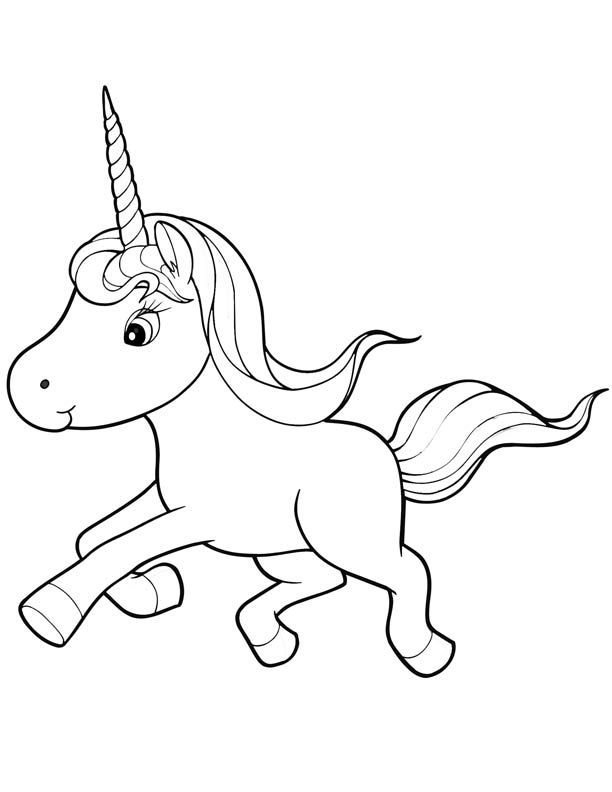 picture of a unicorn to color | right click image and save ...