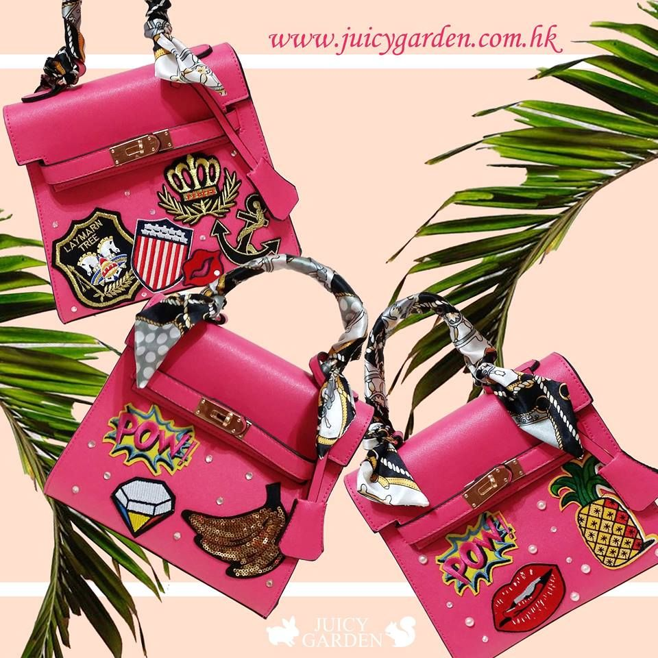 Juicy Garden:::Badges& Rhinestone on Handbag:::www.juicygarden.com.hk http://browniies.com