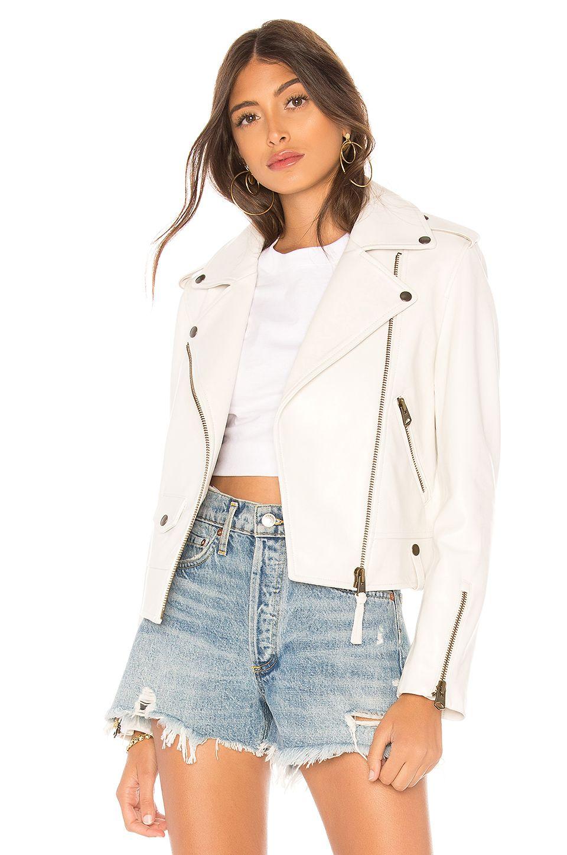 Mackage Baya Leather Jacket in White, ad, Ad, Baya,