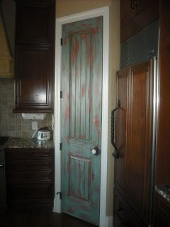 Lucky Star Faux Finishes Distressed Pantry Door Dining Area Painted Pantry Doors