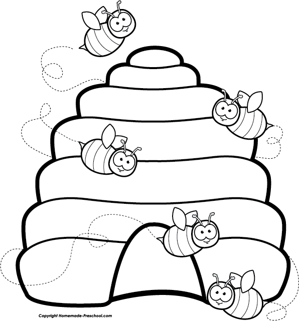 Bee Black And White Beehive Clipart Black And White Free Images Image 2 Bee Coloring Pages Bee Themed Classroom Bee Clipart