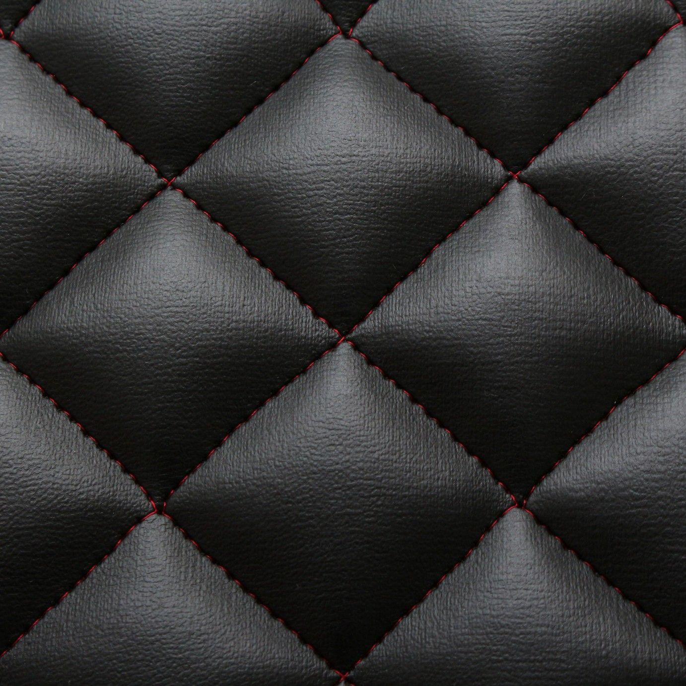 Details About Black Red Stitch Diamond Quilted Faux Leather Car