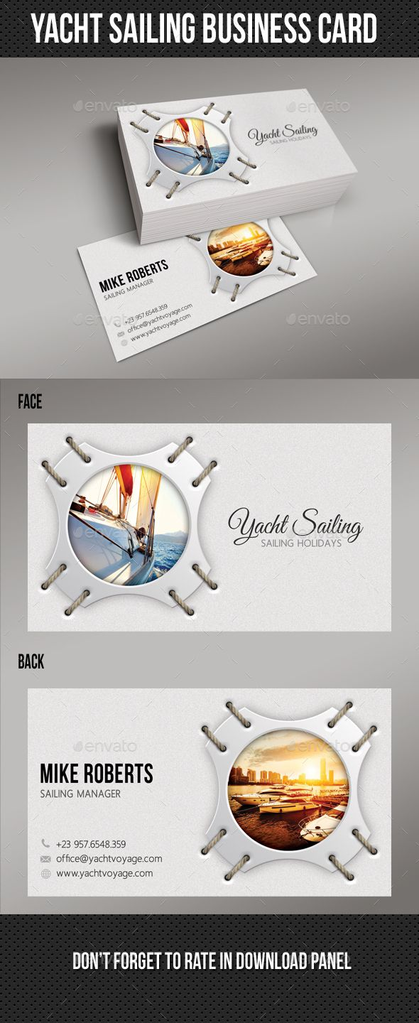 Yacht Sailing Business Card Print Templates Card Printing And - Business card print template psd