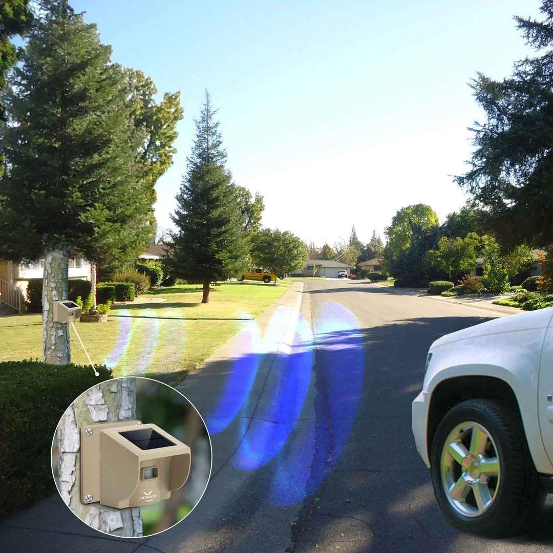 Hosmart Rechargable Solar Driveway Alarm Wireless Sensor System Driveway Sensor Alert System Weatherproof Security Outdoor Motion Sensor Detector Driveway Sensor Driveway Alarm Solar Driveway