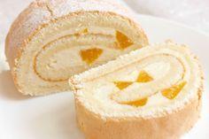 Бисквитные рулетики с кремом суфле и банана