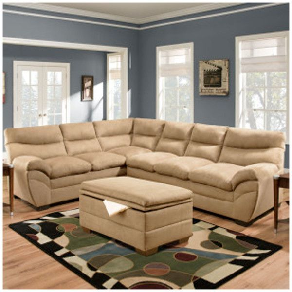 Simmons 9515 Sectional Sofa Luna Latte   Hope Home Furnishings And Flooring