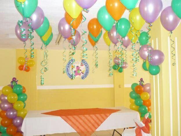 Decoraci n en casa sencilla decoraci n con globos - Menu para fiesta de cumpleanos en casa ...