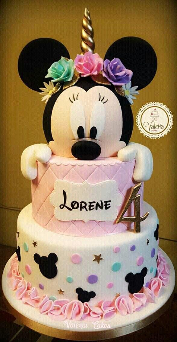 Minnie Mouse Cake #mickeymousebirthdaypartyideas1st