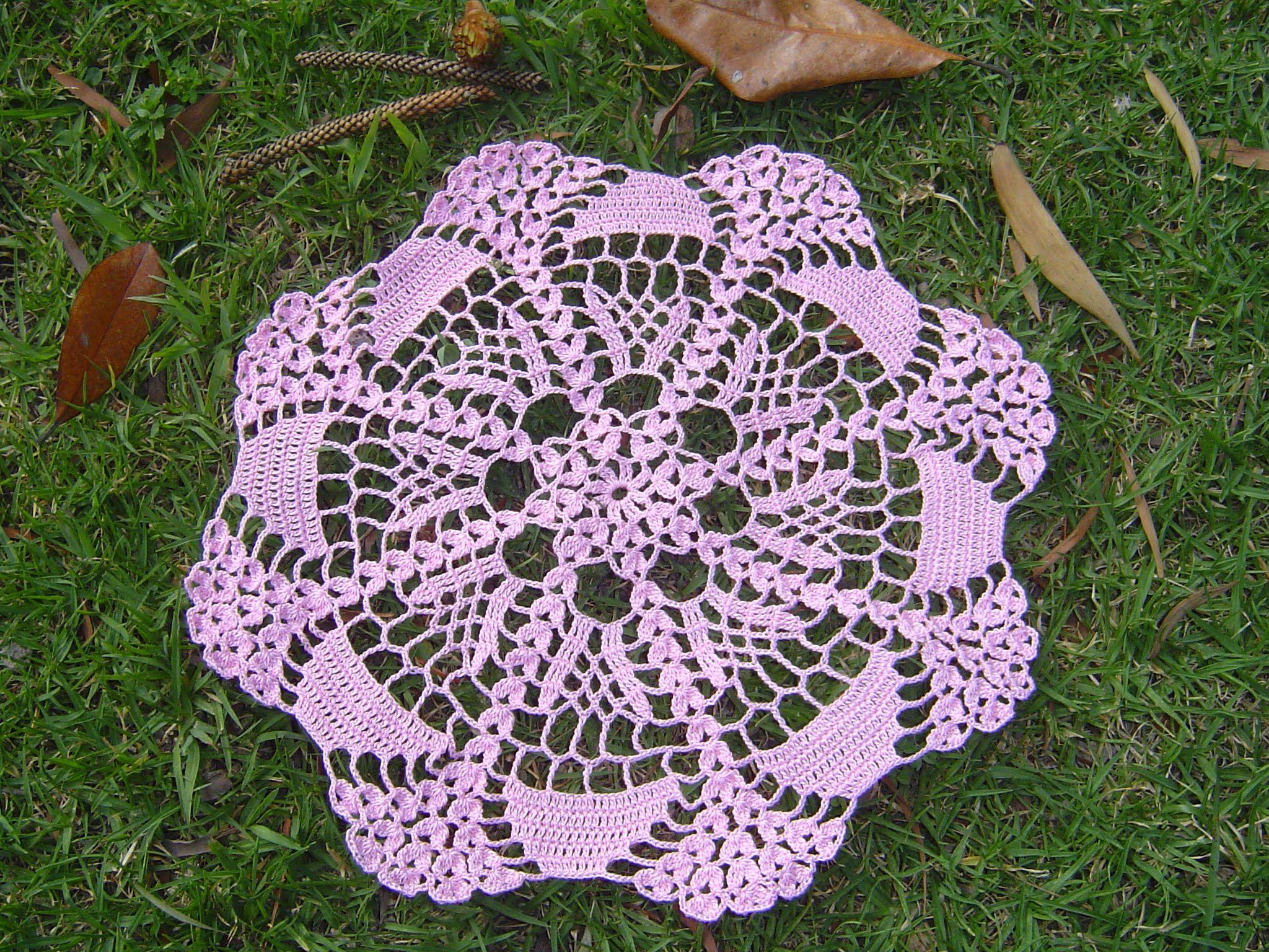 Como hacer tapete o centro de mesa a crochet tutorial for Centro de mesa a crochet