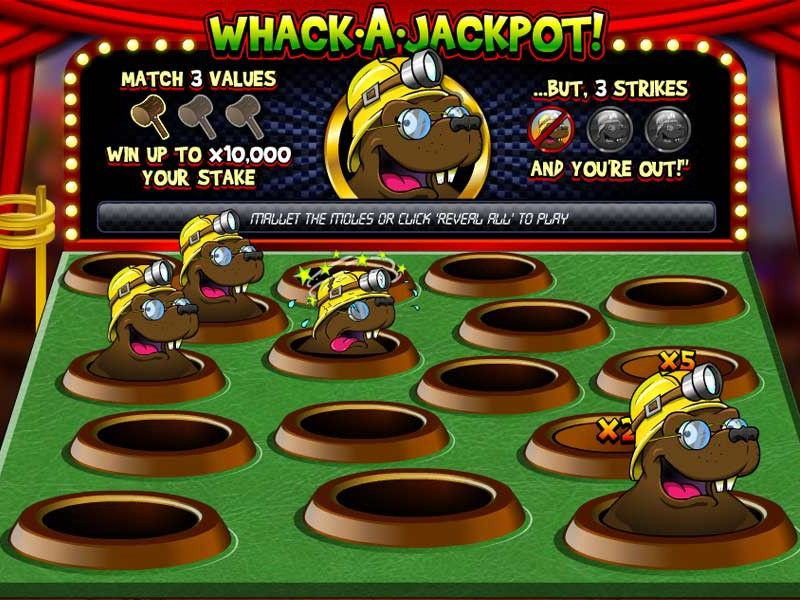 How to Play Whack a Jackpot Slot The game's screen will
