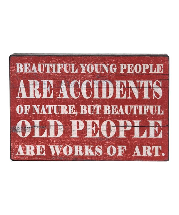Look what I found on #zulily! Red & White 'Beautiful' Wall Sign by Wilco #zulilyfinds