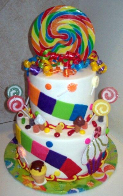 candyland birthday   Birthday Ideas   Birthday Cake, Candy party ...