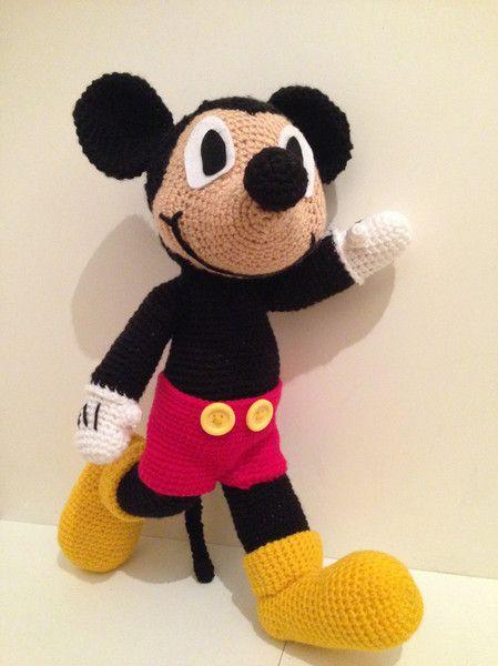 Mickey Mouse Häkelanleitung Amigurumi Häkeln   Amigurumi häkeln ...