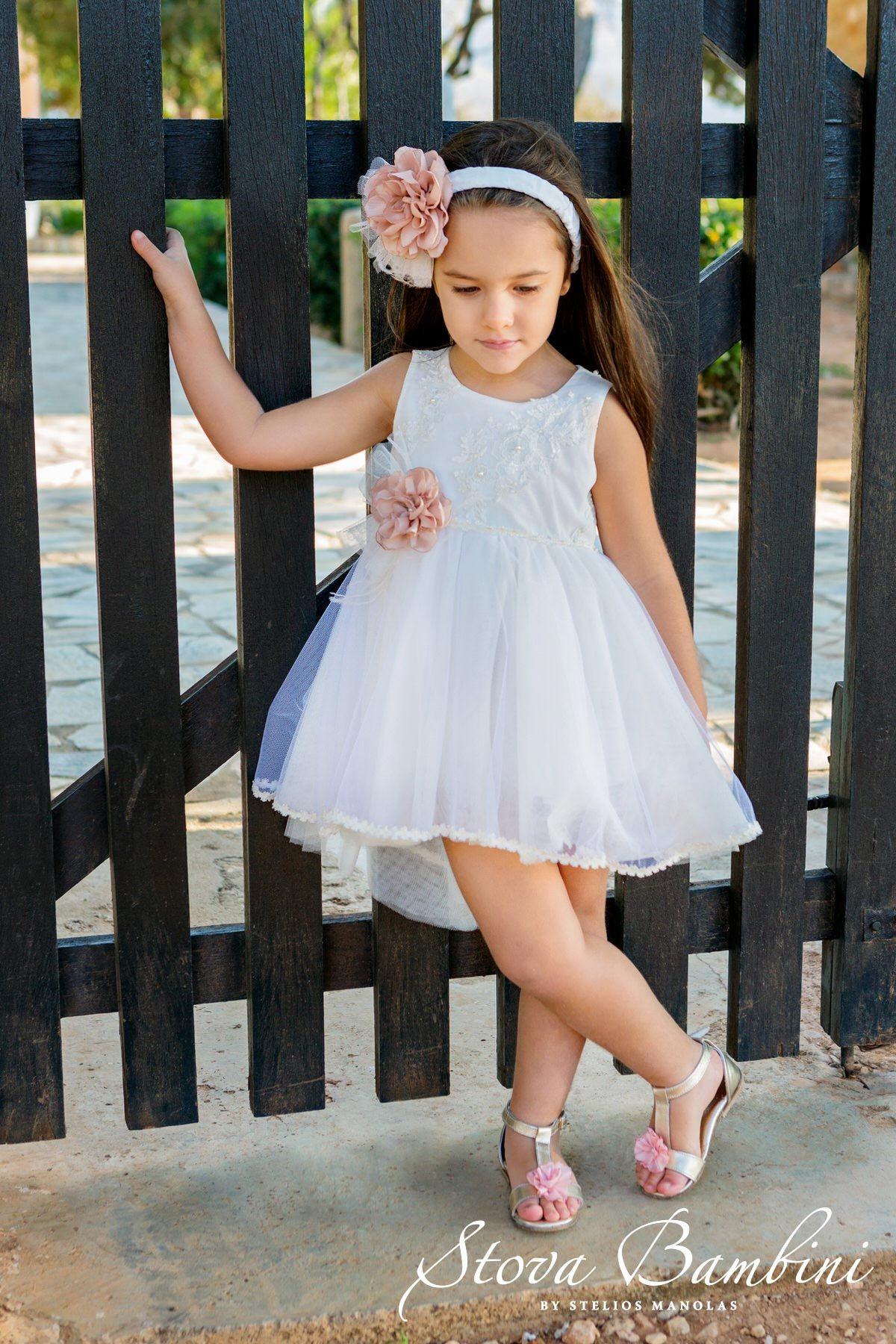 de9203dd38c ΒΑΠΤΙΣΤΙΚΟ ΡΟΥΧΟ STOVA BAMBINI   STOVA BAMBINI   Flower girl dresses ...