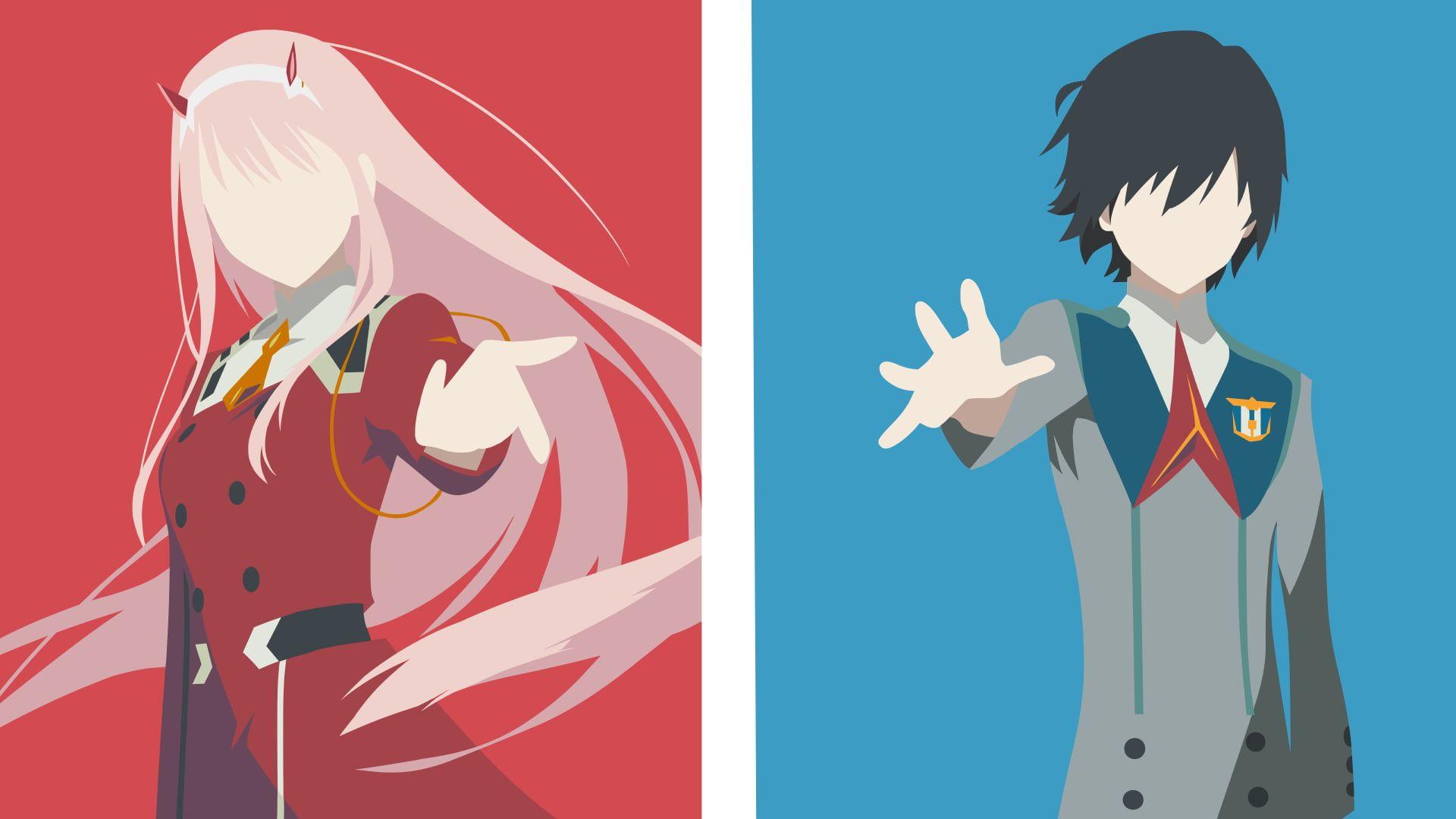 HD wallpaper: Darling in the FranXX, anime girls, anime boys, Zero Two (Darling in the FranXX)