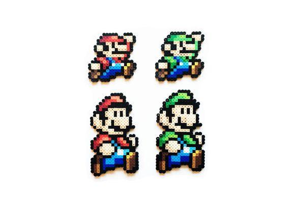Super Mario Bros 3 Mario And Luigi Perler Sprites Perler Bead