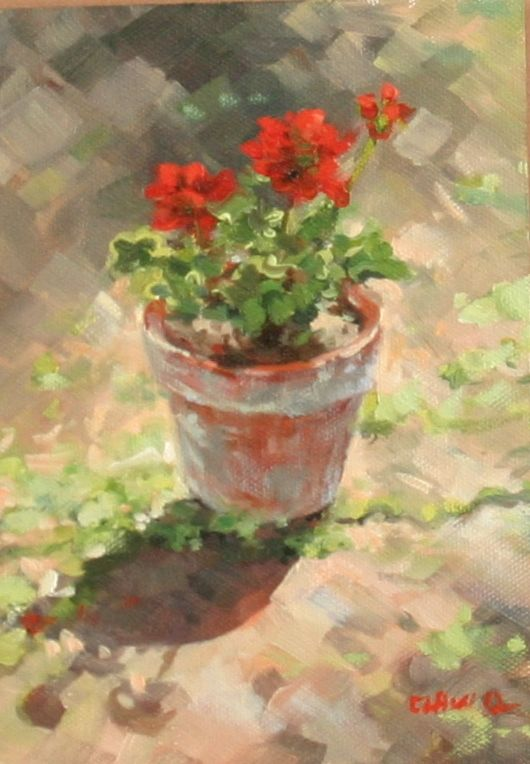 I also like to paint scene from the garden, I was a successful flora desing and interior landscaper for the Atlantic City Casinos for 25 years.