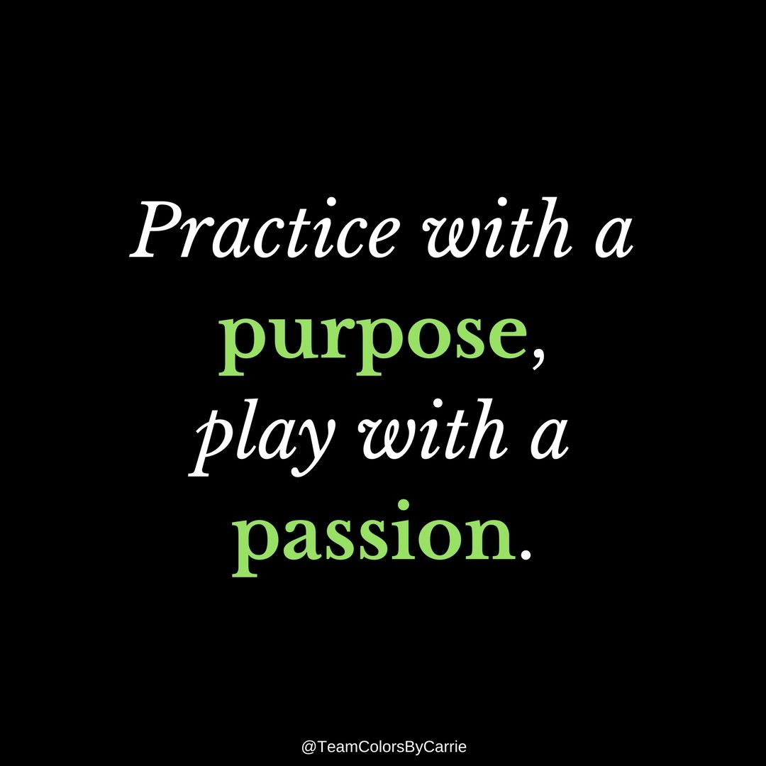 A Passion For purpose for practice, passion for play. (with images