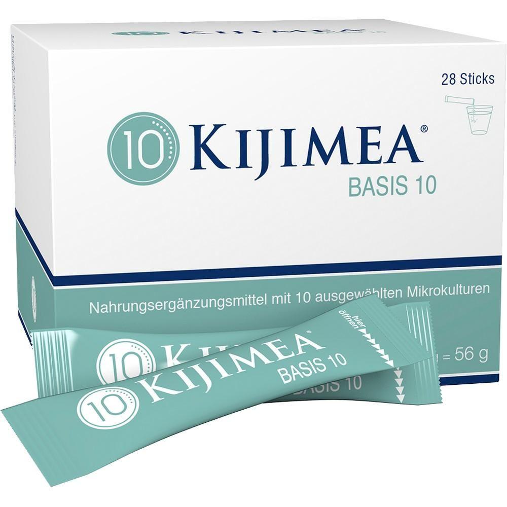 KIJIMEA Basis 10 Pulver:   Packungsinhalt: 28X2 g Pulver PZN: 11353115 Hersteller: PharmaFGP GmbH Preis: 37,21 EUR inkl. 7 % MwSt. zzgl.…