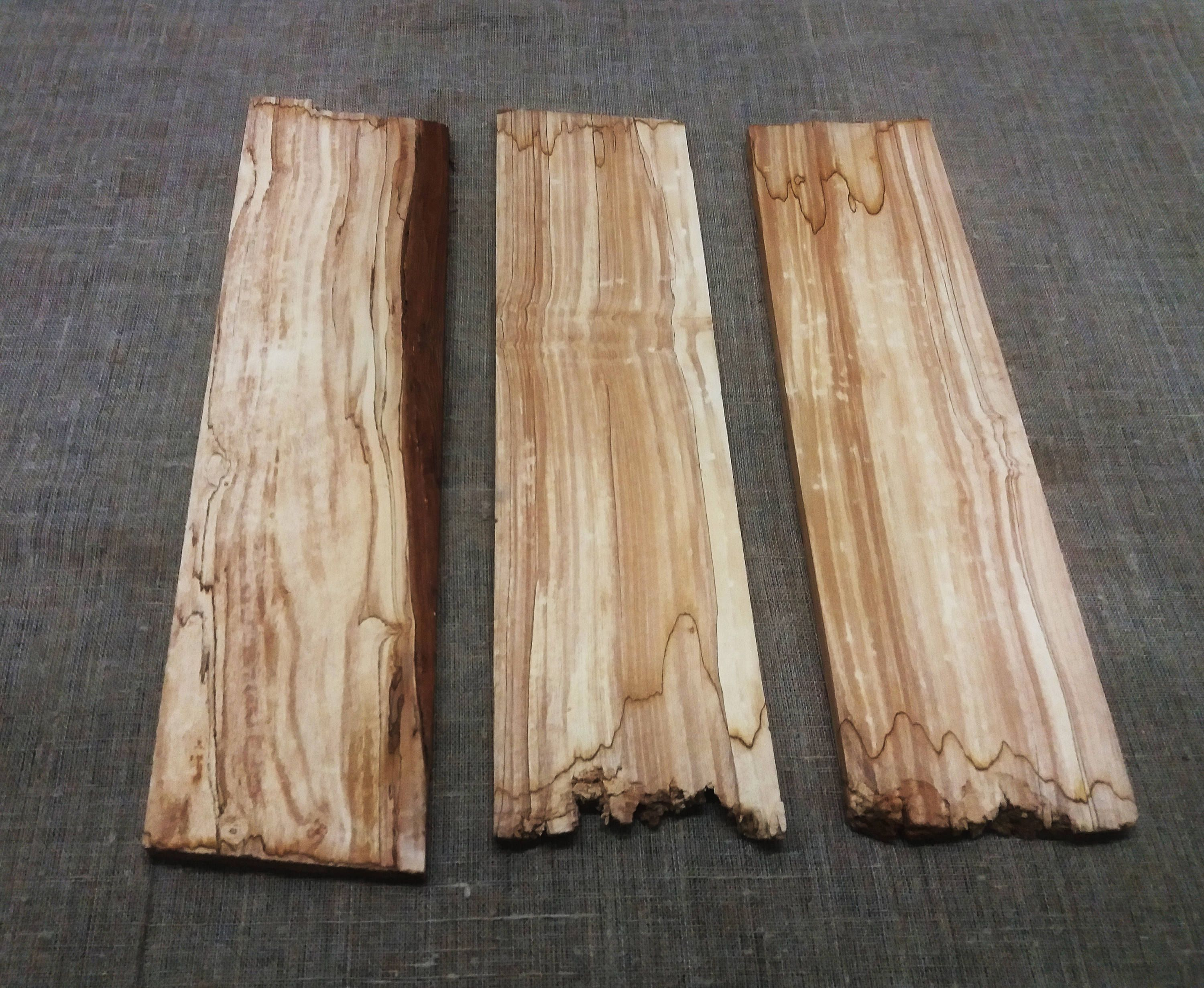 3 Weeping Willow Wood Planks Tree Core Without Bark, For