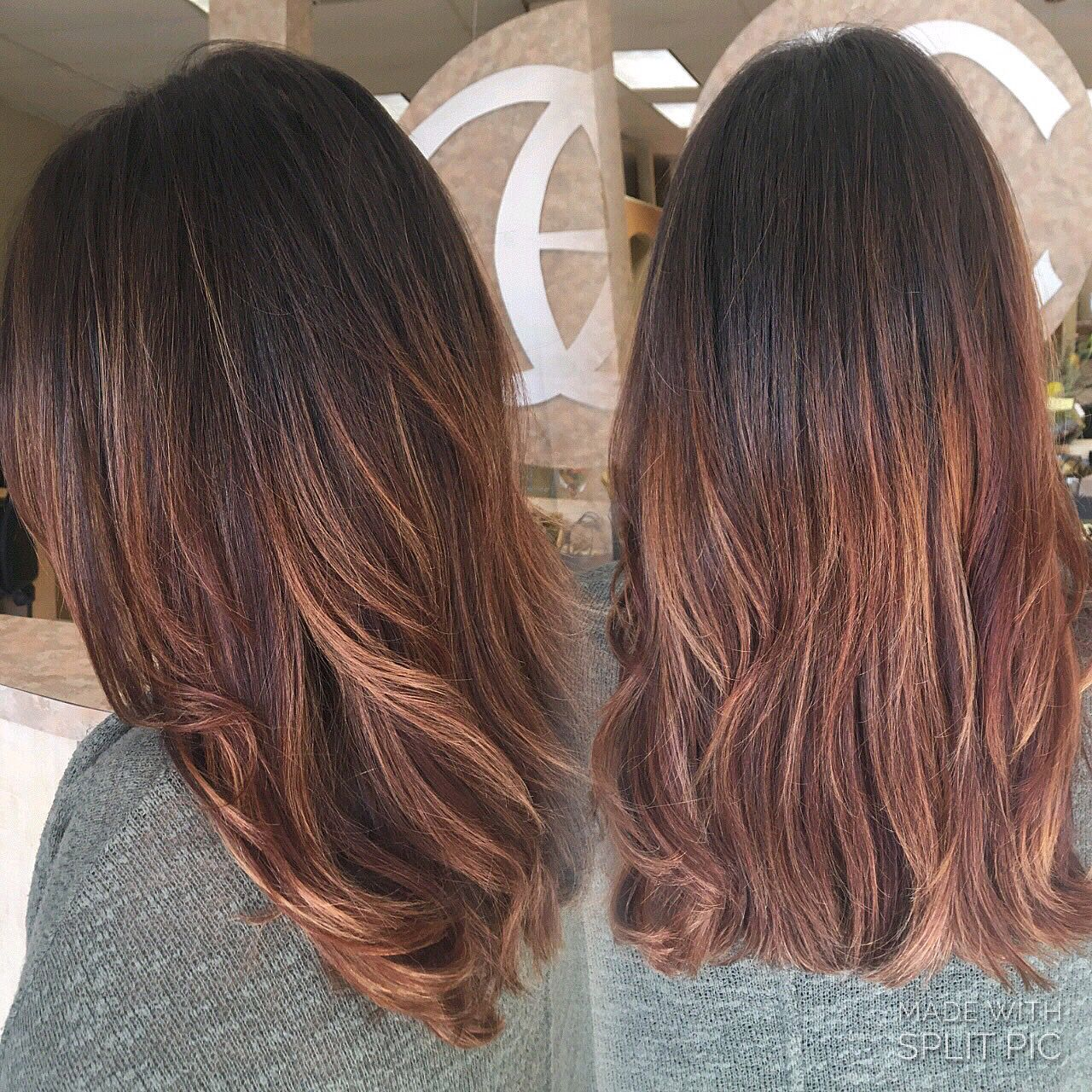 Natural Highlights Brown Dark Brown Hair Hand Painted Balayage Highlights Red Brown Copper Tones By Ig Hairbynickyz Hair Copper Brown Hair Hair Styles