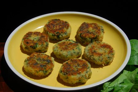 Spinach potato tikki talimpu indian food recipes savory spinach potato tikki talimpu indian food recipes forumfinder Gallery