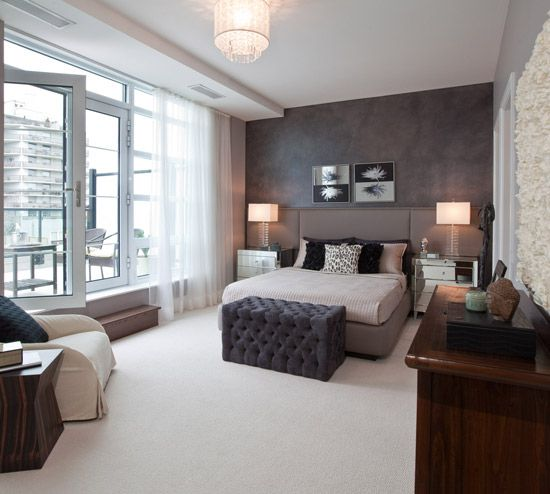 Small Space Interior: Urban Living   Style At Home. Grey Brown BedroomsCity  ...