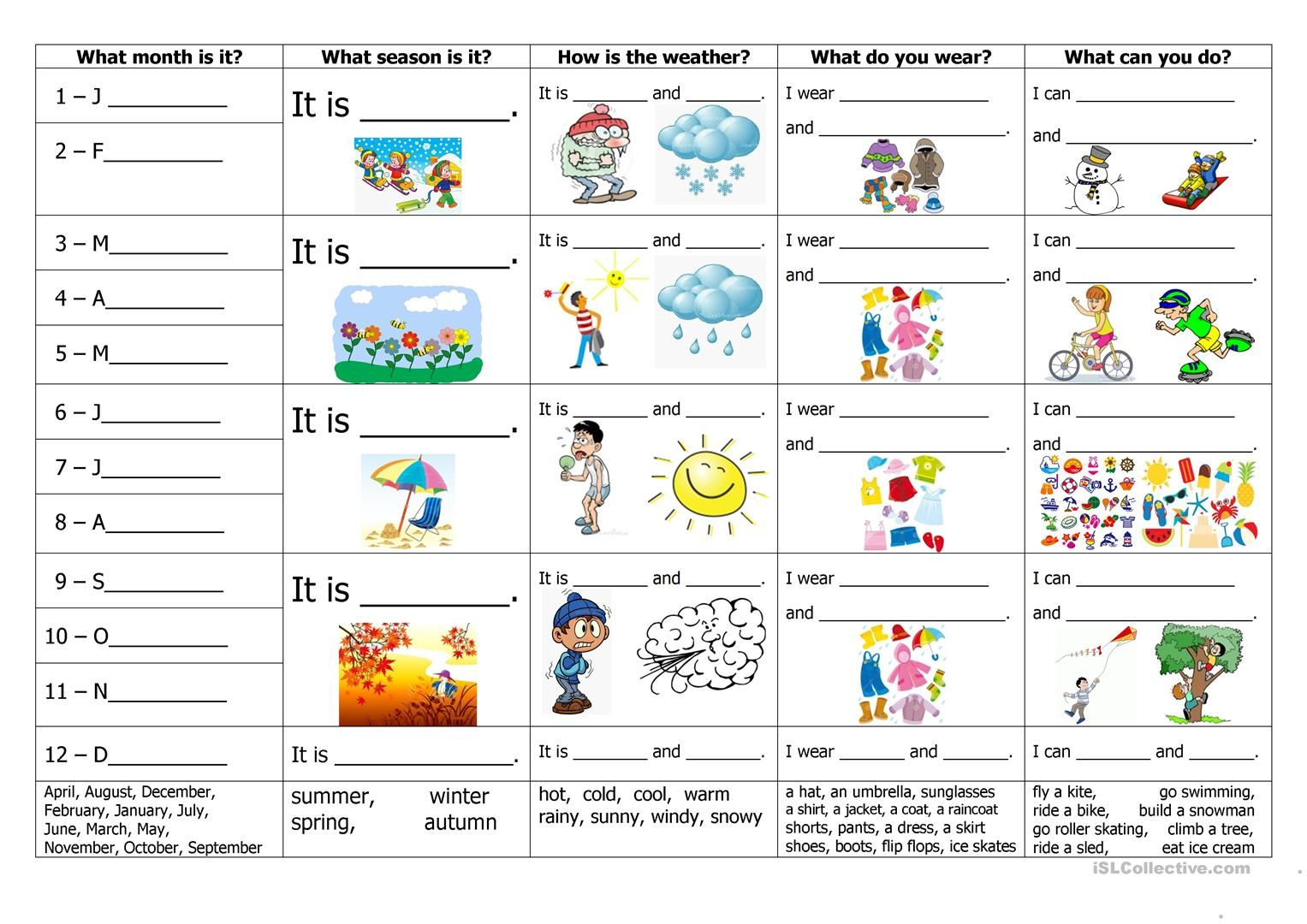 Related Image Weather Worksheets Seasons Worksheets Seasons Activities