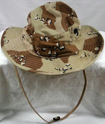 0c1cdd852edae Original Desert Storm Gulf War Boonie Hat 7 1 4 C-6602 Cookie Camo Military  Army