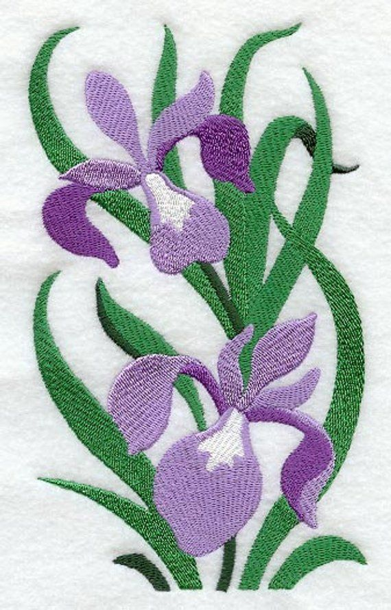 Filigree Iris Embroidered Waffle Weave Hand Dish Towel Etsy In 2020 Sewing Embroidery Designs Animal Embroidery Designs Machine Embroidery Designs